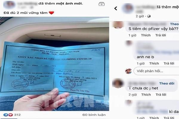 """Cô gái Cần Thơ khoe được tiêm hai mũi vaccine Pfizer nhờ """"xin ông anh"""""""