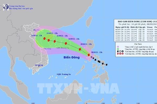Bão Conson đi vào Biển Đông trở thành cơn bão số 5, Bắc Bộ và Trung Bộ mưa to