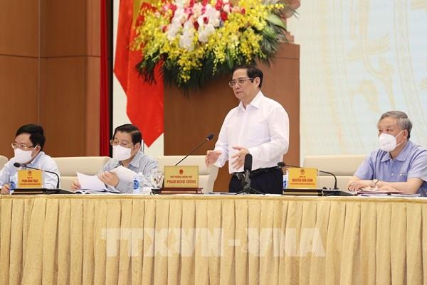 Thủ tướng Phạm Minh Chính: Phải chống tham nhũng, tiêu cực, lợi ích nhóm trong xây dựng và hoàn thiện thể chế
