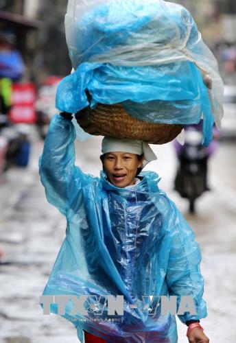 Người dân lao động ở Hà Nội chống chọi với giá rét - hình 13
