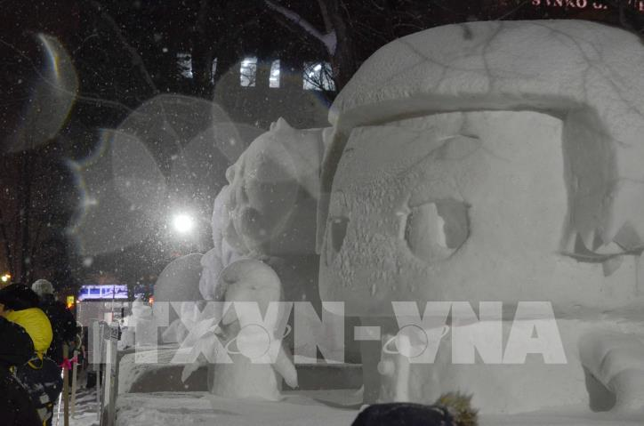 Ngắm các tác phẩm trong Lễ hội Tuyết Sapporo 2019 (Nhật Bản) - hình 2