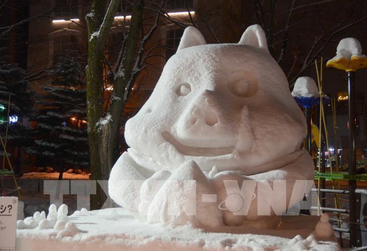 Ngắm các tác phẩm trong Lễ hội Tuyết Sapporo 2019 (Nhật Bản) - hình 5