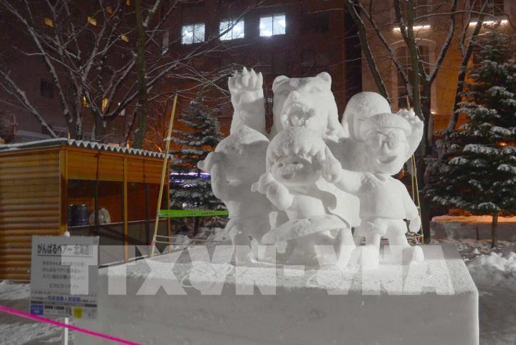Ngắm các tác phẩm trong Lễ hội Tuyết Sapporo 2019 (Nhật Bản) - hình 7