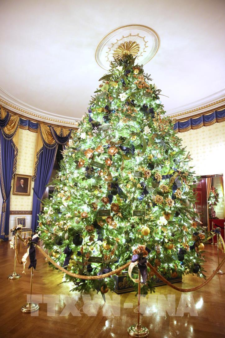 Nhà Trắng (Mỹ) trang hoàng chuẩn bị đón Giáng sinh 2019 - hình 2