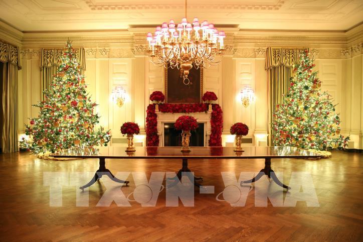 Nhà Trắng (Mỹ) trang hoàng chuẩn bị đón Giáng sinh 2019 - hình 4