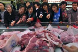 Giá thịt lợn tại Trung Quốc đang tăng chóng mặt