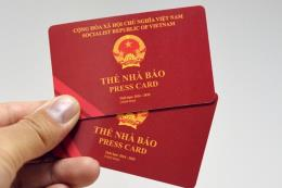 Các cơ quan báo chí cần chấn chỉnh việc cấp các giấy tờ, thẻ nhầm lẫn với Thẻ Nhà báo