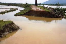 Quảng Bình: Vỡ đê ngăn mặn do mưa lũ
