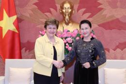 Chủ tịch Quốc hội Nguyễn Thị Kim Ngân tiếp Tổng Giám đốc điều hành Ngân hàng Thế giới