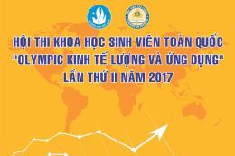 """71 đề tài tham dự Hội thi khoa học """"Olympic kinh tế lượng và ứng dụng"""" năm 2017"""