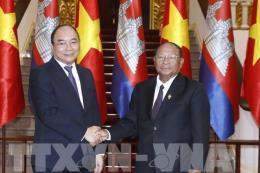 Thủ tướng Nguyễn Xuân Phúc tiếp Chủ tịch Quốc hội Vương quốc Campuchia