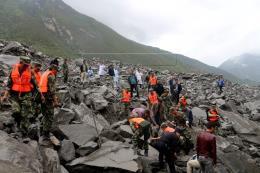 Vụ lở đất tại Trung Quốc: Con số thương vong tiếp tục tăng cao