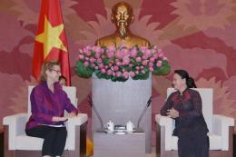 Chủ tịch Quốc hội tiếp Giám đốc Quốc gia UNDP tại Việt Nam