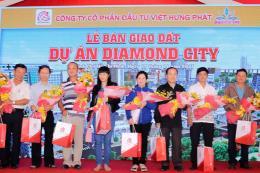 Bàn giao đất nền dự án Diamond City cho khách hàng