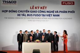 Thaco ký hợp đồng chuyển giao công nghệ và phân phối xe tải, xe bus Fuso tại Việt Nam