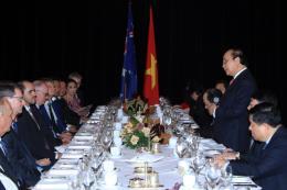 Thủ tướng Nguyễn Xuân Phúc gặp gỡ các doanh nghiệp của Australia