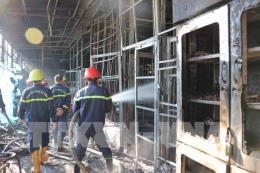 Cháy cơ sở sản xuất sâm ngọc linh ở khu vực hồ Tuyền Lâm, thành phố Đà Lạt