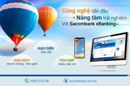 Sacombank ra mắt ngân hàng điện tử mới