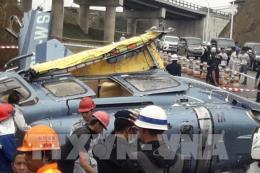 Máy bay trực thăng rơi tại Indonesia làm 10 người thương vong
