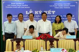 Sóc Trăng và Tp Hồ Chí Minh ký kết tiêu thụ nông sản, thủy sản an toàn