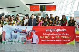 Vietjet Air chào đón chuyến bay đầu tiên Hà Nội – Đài Trung (Đài Loan-Trung Quốc)
