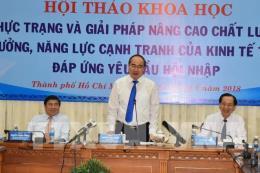Giải pháp nâng cao chất lượng tăng trưởng, năng lực cạnh tranh của kinh tế Tp. Hồ Chí Minh