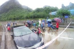 Quảng Ninh khắc phục xong ngập úng ở đèo Bụt và thông tuyến Quốc lộ 18A