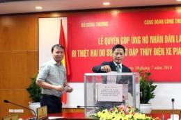 Gần 1,9 tỷ đồng ủng hộ nhân dân Lào bị thiệt hại vỡ đập thủy điện Xepian-Xe Nam Noy