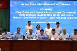 Tp. Hồ Chí Minh công bố điều chỉnh quy hoạch sử dụng đất đến năm 2020