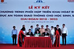 Honda Việt Nam ký chương trình phối hợp triển khai các hoạt động về an toàn giao thông
