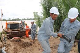 Khởi công công trình đưa lưới điện về xã đảo Long Hòa
