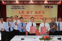 TTXVN và Thừa Thiên - Huế ký thỏa thuận hợp tác truyền thông