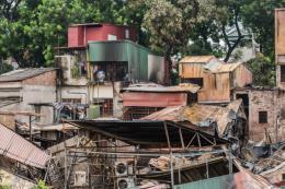 Vụ cháy 6 nhà trên phố Đê La Thành: Nghi có người chết cháy
