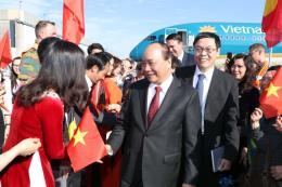 Thủ tướng Nguyễn Xuân Phúc bắt đầu chuyến tham dự ASEM 12