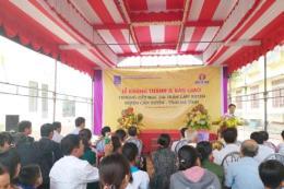 Khánh thành Trường tiểu học Cẩm Xuyên do Đạm Cà Mau tài trợ