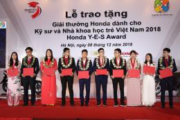 Honda trao giải thưởng cho các kỹ sư và nhà khoa học trẻ Việt Nam 2018