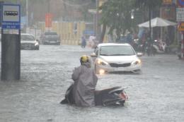 Đà Nẵng tiếp tục mưa lớn gây ngập cục bộ nhiều nơi