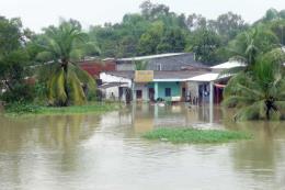 Mưa lớn tại Quảng Nam khiến nhiều ngôi nhà ngập trong nước