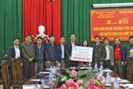 Thanh Hóa: Tổng Công ty phát điện 2 hỗ trợ đồng bào vùng lũ