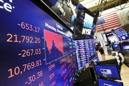 Chứng khoán Âu-Mỹ giảm điểm