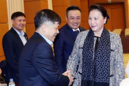 Chủ tịch Quốc hội Nguyễn Thị Kim Ngân làm việc với PVN