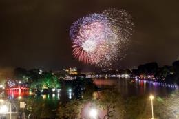 Những điểm bắn pháo hoa đêm Giao thừa tại Hà Nội