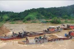 Bà Rịa-Vũng Tàu: Phát hiện 3 phương tiện hút cát trái phép trên sông Mỏ Nhát
