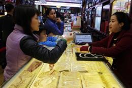 Giá vàng trong nước sáng 14/2 tăng 100.000 đồng/lượng