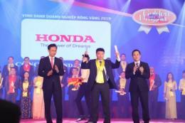 Honda Việt Nam nhận giải thưởng Rồng Vàng năm thứ 14