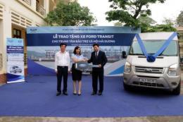 Ford Việt Nam trao tặng ô tô cho Trung tâm Bảo trợ xã hội tỉnh Hải Dương