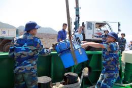 Máy ép rác C-Sea chính thức vận hành tại đảo Song Tử Tây, Trường Sa