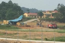 Máy bay quân sự Su-22M4 gặp sự cố