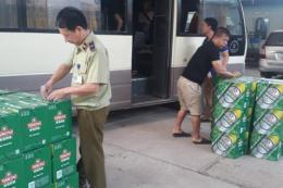 Lạng Sơn thu giữ lô bia chai nhập lậu