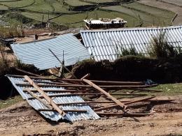 Mưa đá kèm tố lốc gây nhiều thiệt hại tại tỉnh Yên Bái